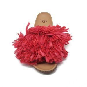 UGG Cindi Yarn Slide Sandals in Red Womens Size 6